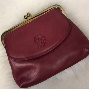 •Vintage• GenuineLeather Buxton Coin Pouch Oxblood
